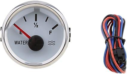 Blanco Sharplace Indicador de Nivel Agua de Tanque para Motores Veh/ículos