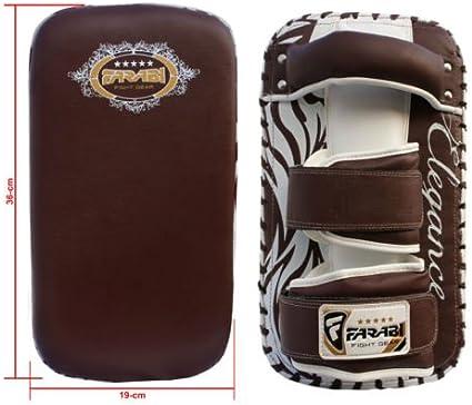 Farabi Round Pad Real Leather Strike Pad Boxing Muay Thai MMA Training Strike