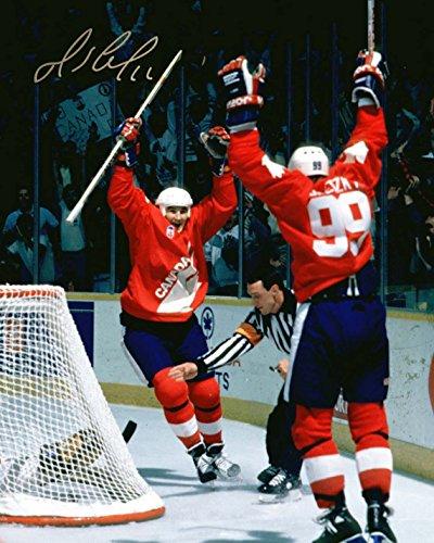 Mario Lemieux Signed 16x20 Unframed Photo Team Canada Cup