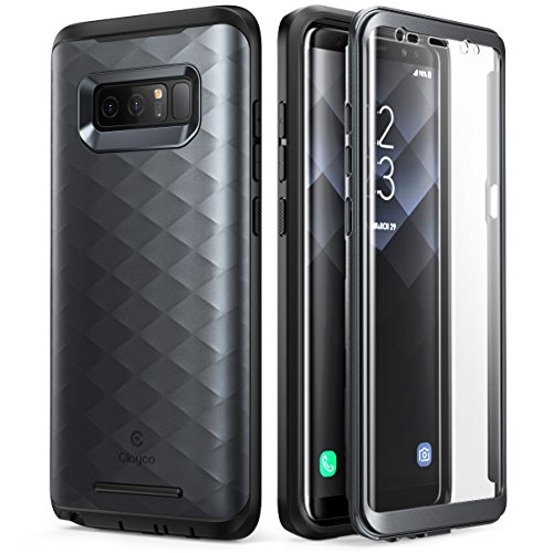 Galaxy Note 8 Case, Clayco [Hera Series] Full-body Rugged Case with Built-in Screen Protector for Samsung Galaxy Note 8 (2017 Release) (Black)