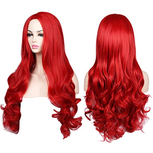 ColorGround Long Wavy Red Halloween Cosplay Wig]()