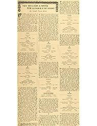 1897 Article $10 Per Week For Family of 8 Sarah Tyson Rorer Menu Meal Budget - Original Print Articl