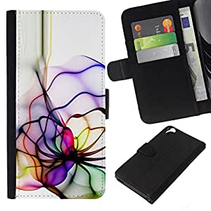 All Phone Most Case / Oferta Especial Cáscara Funda de cuero Monedero Cubierta de proteccion Caso / Wallet Case for HTC Desire 820 // Neon Color Lines