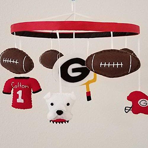 Georgia Bulldogs Football Baby Mobile