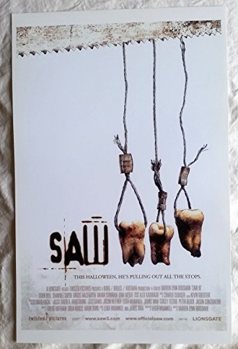 Saw 3 Poster 11 x 17 inches This Halloween, He's Pulling Out All the Stops (Monstruos Halloween)