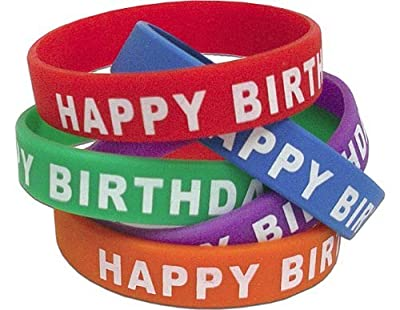 2 X Teacher Created Resources Happy Birthday Wristbands, Multi Color (6559)
