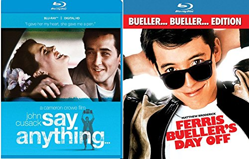 Ferris Bueller's Day Off + Say Anything... Blu Ray Fun Comedy 80's Teen movie Set