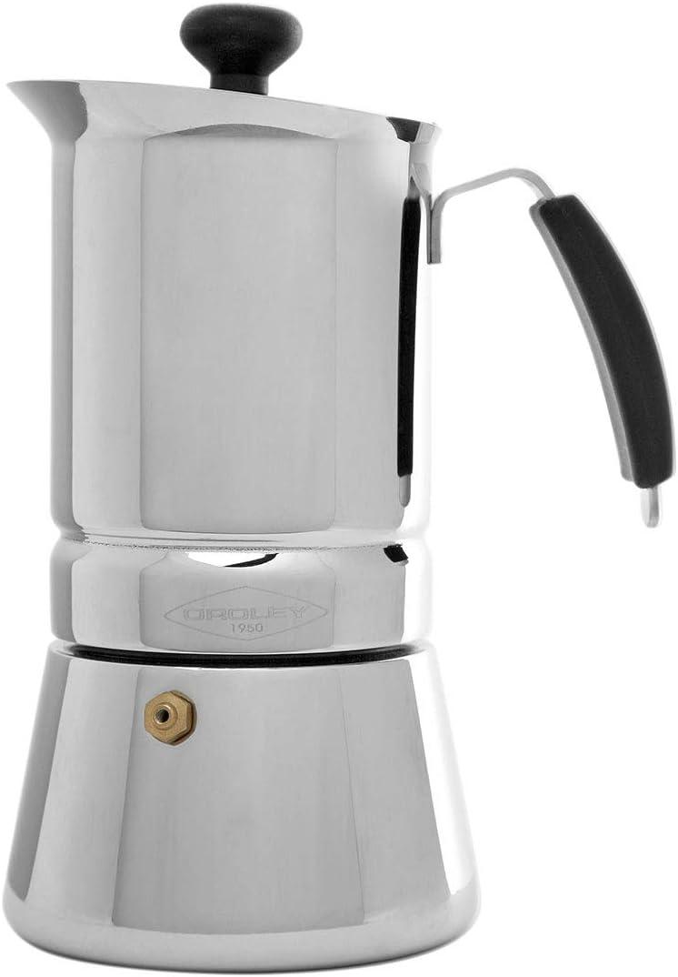 Oroley - Cafetera Italiana Arges | Acero Inoxidable | 10 Tazas | Cafetera Inducción, Vitrocerámica, Fuego y Gas | Estilo Tradicional: Amazon.es: Bricolaje y herramientas