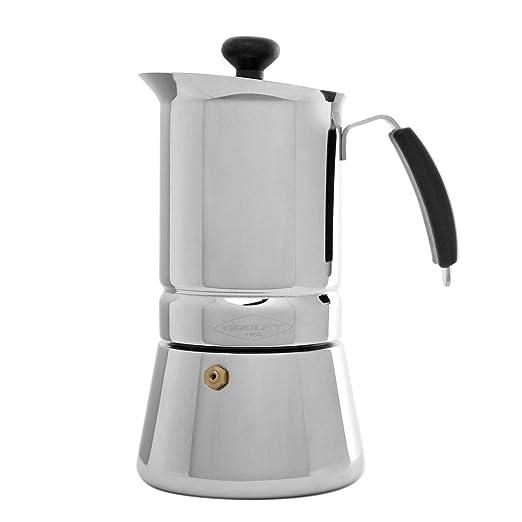 Oroley - Cafetera Italiana Inducción Arges para Todo tipo de Cocinas, 10 Tazas