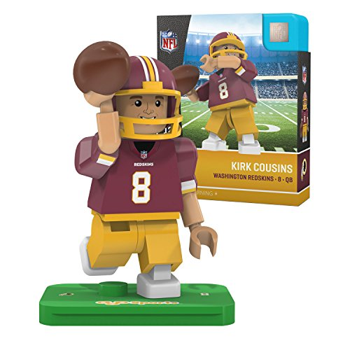 NFL Washington Redskins Gen4 Limited Edition Kirk Cousins Mini Figure, Small, White