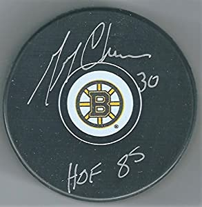 Autographed Gerry Cheevers Boston Bruins Hockey Puck
