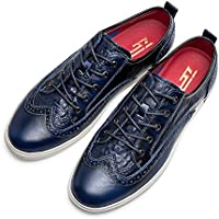 ZRO Men's Wingtip Casual Leather Oxford Sneaker Shoes Blue US 10 ...