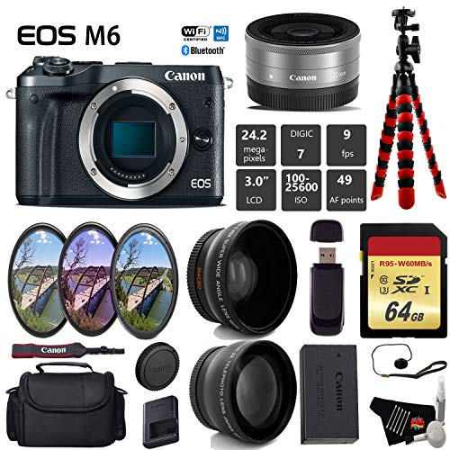 Buy Canon EOS M6 Mirrorless Digital Camera (Black) with EF-M 22mm f