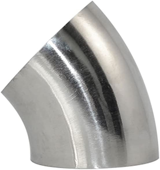 """3//4/"""" 4/"""" 19-102mm Stainless Steel Sanitary Weld Elbow Pipe Fitting 45° SUS316"""