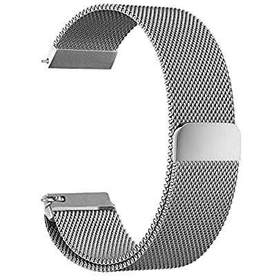 Fitbit Blaze Accessory Band Large (6.7-8.1 in), Aokay Milanese Loop Stainless Steel Mesh Bracelet Replacement Band Strap with Unique Magnet Lock for Fitbit Blaze Smart Fitness Watch