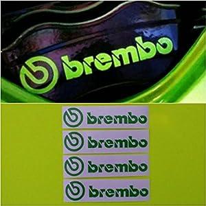 R&G Brembo HIGH TEMP Brake Caliper Decals Sticker Set of 4 (Green)