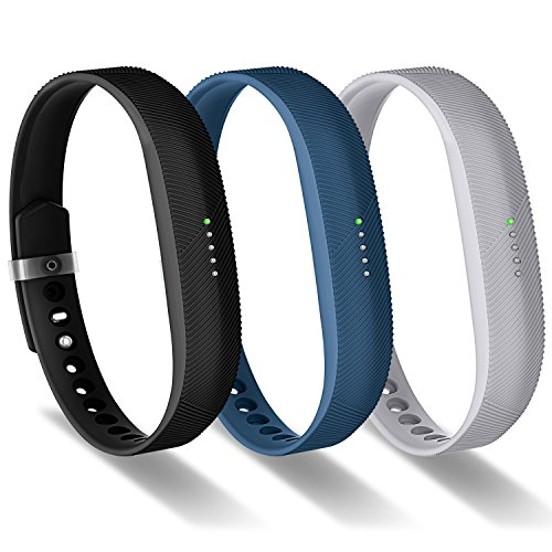 Greeninsync Accessory Band for Flex 2 Fitbit, Replacement for Fitbit Flex 2 Adjustable Sports Fitness Wristband Strap W/Metal Clasp and Fastener for Fitbit Flex 2 Smart Watch Small Women Girl(3Pack)