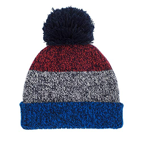 (Folamer Kids Pom Pom Hat, Baby Toddler Winter Warm Knit Beanie Hat for Boys 1-10 Years Old)