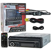 Power Acoustik Single Din PD-721XB 1DIN Car audio 7 Touchscreen Motorized DVD CD stereo Bluetooth SiriusXM Ready + Remote & DCO Waterproof Backup Camera with Nightvision