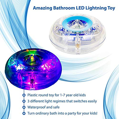 Caseometry Upgraded Light-up Toy Waterproof for Kids Durable Floating Safe for Baby with Instruction Boys and Girls Toddler Toys Children Prime Water Gift Toys Educational Boat Pool Fun