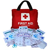 Premium First Aid Kit Bag 108 pieces, with CPR Face Mask, for Travel, Car, Home, Camping, Work, Survival - by TempIR