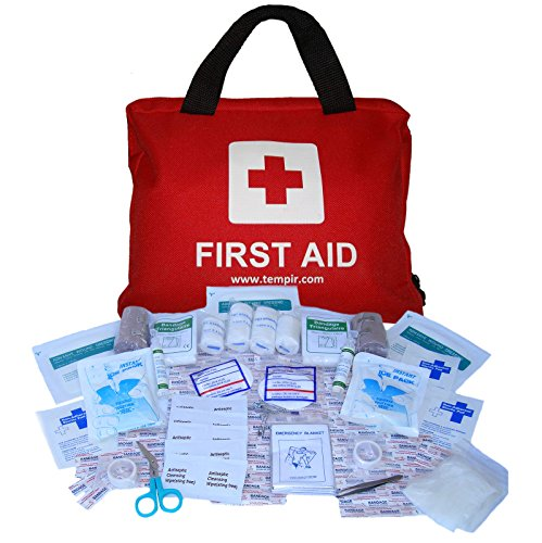 Premium First Aid Kit Bag 108 pieces, with CPR ...