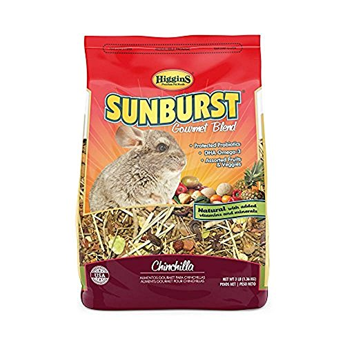 Complete Timothy Food Chinchilla - Higgins 466034 Sunburst Gourmet Chinchilla Food Mix 3 Lb (1 Pack), One Size