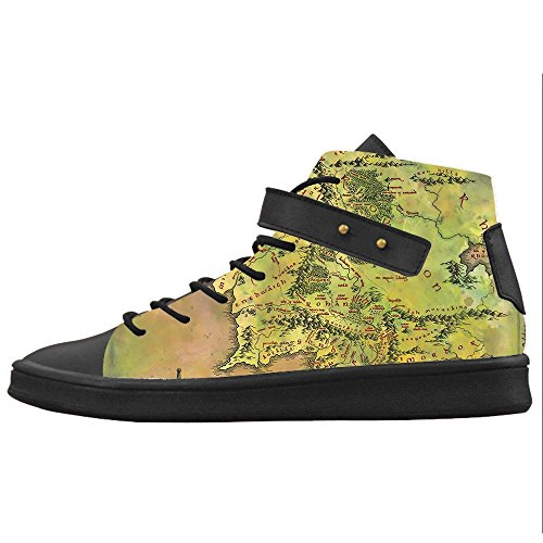 Custom Mappa del mondo Womens Canvas shoes Le scarpe le scarpe le scarpe.