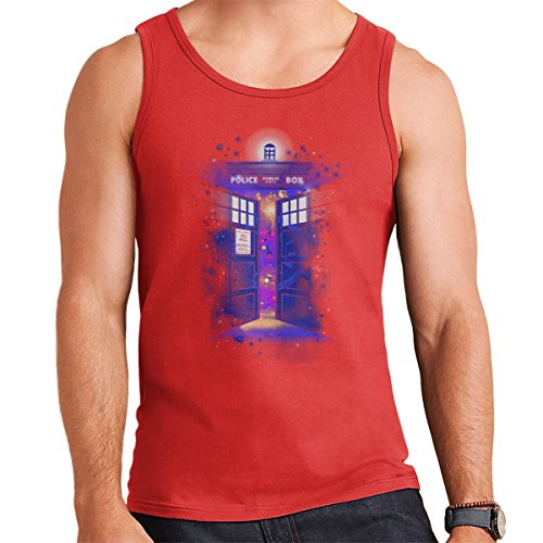 Police Box Time Gate Doctor Who Men's Vest