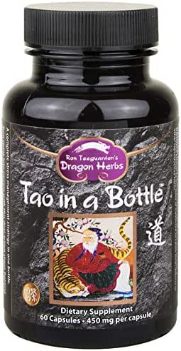 Dragon Herbs - Tao in a Bottle - Dietary Supplement - 60 Vegetarian Capsules - 450 mg - Made with Pure Premium Grade L-Theanine - All Natural Ingredients, Gluten Free, Vegan, No additives …