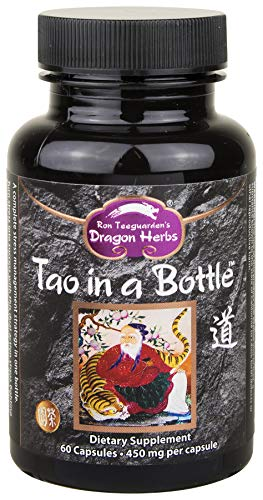 Dragon Herbs - Tao in a Bottle - Dietary Supplement - 60 Vegetarian Capsules - 450 mg - Made with Pure Premium Grade L-Theanine - All Natural Ingredients, Gluten Free, Vegan, No additives ... (Tonic Alchemy)