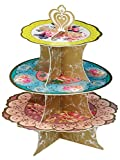 Talking Tables Truly Scrumptious Floral Cake Stand (3 Tier) for a Tea Party, Wedding or Birthday, Multicolor