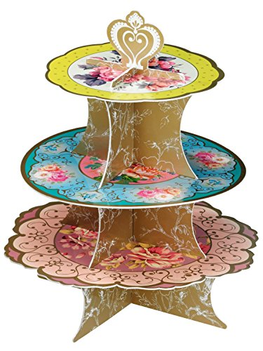 Talking Tables Truly Scrumptious Tea Party Floral Cake Stand Height 36cm 14quot