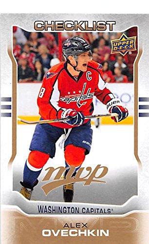 Alex Ovechkin hockey card (Washington Capitals Ovi All Star) 2014 Upper Deck MVP #199 Checklist Checklist Autographed Card