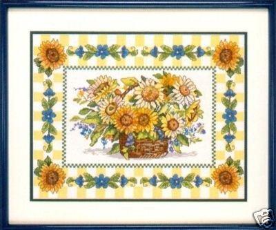- Sunflower Basket Counted Cross Stitch Kit