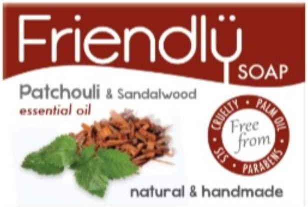 Friendly Soap Natural Handmade Patchouli and Sandalwood Soap (Case of 6)
