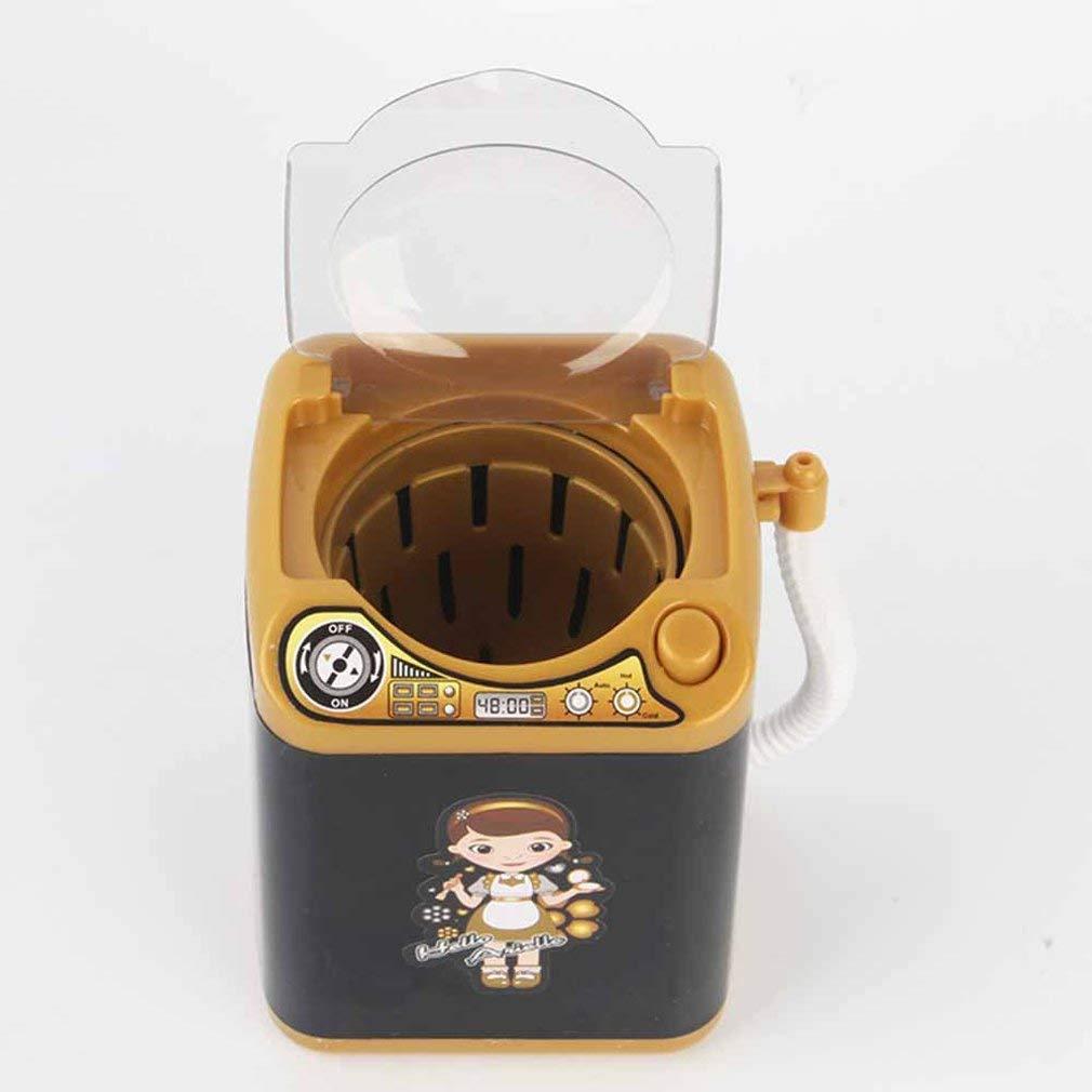 Leoboone Lavadora el/éctrica para ni/ños Juguete Lavado Puff Maquillaje Cepillo Puede deshidratar y drenar Simulaci/ón Electrodom/ésticos Juguetes