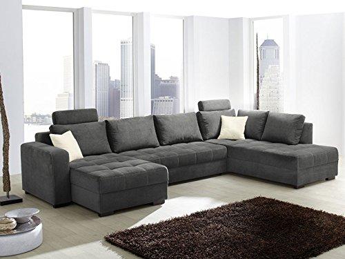 Wohnlandschaft Antigua Mikrofaser Grau 357x222x162cm Bettfunktion Sofa Couch Polsterecke Jetzt Bestellen