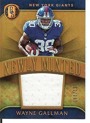Football NFL 2017 Gold Standard Newly Minted Memorabilia #39 Wayne Gallman MEM /199 NY Giants