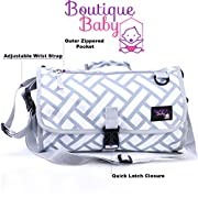 Baby Changing Pad By Boutique Baby Portable Diaper Changing Pad Station Waterproof Extra Long Travel Clutch