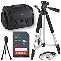 32GB+57 inch tripod Professional Accessory Kit For all Canon, Nikon, Sony, Panasonic, Olympus Cameras, Kit Includes 10 Compact Accessories