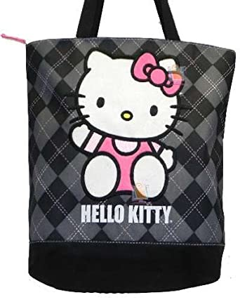 b75b84af7fb Image Unavailable. Image not available for. Color  Tote Bag - Hello Kitty -  Black Checker. SANRIO