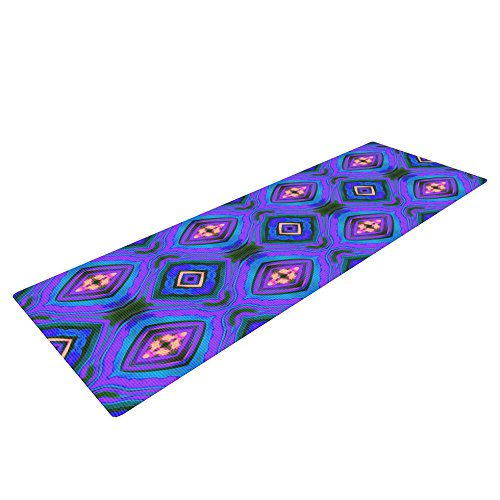 Kess InHouse Anne Labrie Dark Diamond Exercise Yoga Mat, Purple Blue, 72