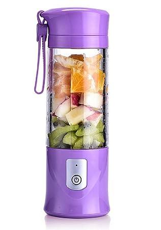 Portátil batidora de las frutas recargable con USB, Mini licuadora para Smoothie, batido,