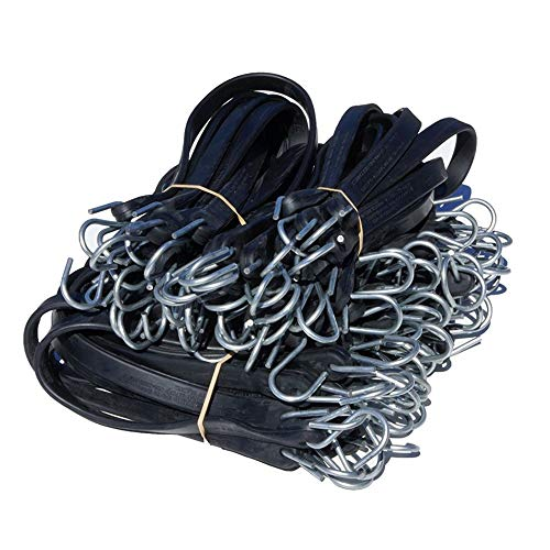 50 Mixed Heavy Duty Rubber Tarp Straps Tie Down Bungee Flatbed Truck Trailer
