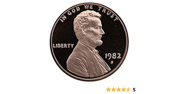 1982 S Gem Proof Lincoln Memorial Cent Penny Proof US Mint