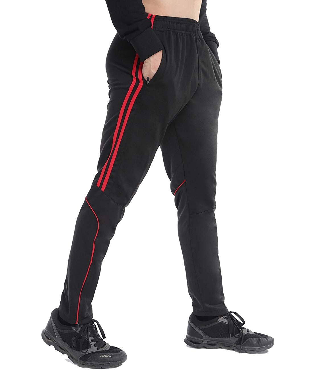 Men's Plus Size Sweatpants Drawstring Gym Apparel Zip Pockets Casual Pants Sports Trousers Workout, Gym, Jogging, Running, Training