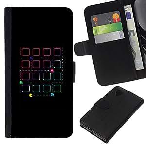 For LG Nexus 5 D820 D821 Case , Game Old Retro 80'S Vintage Man - la tarjeta de Crédito Slots PU Funda de cuero Monedero caso cubierta de piel