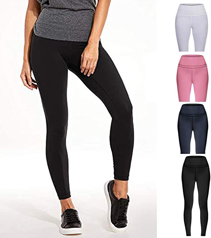 Haozin High Waisted Womens Leggings Camouflage Yoga Pants Sports Workout Gym Fitness Athletic Trouser