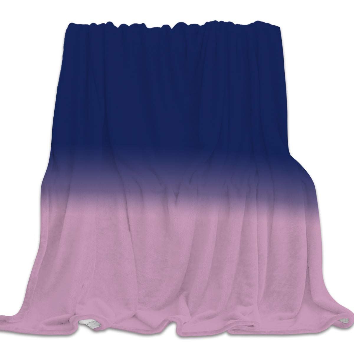 Minimalism 22yag9792 49x59inch=125x150cm YEHO Art Gallery 49x59 Inch Flannel Fleece Bed Blanket Soft ThrowBlankets for Kids Adult,Gradient bluee and Pink Pattern,Lightweight Blankets for Bedroom Living Room Sofa Couch Home Decor